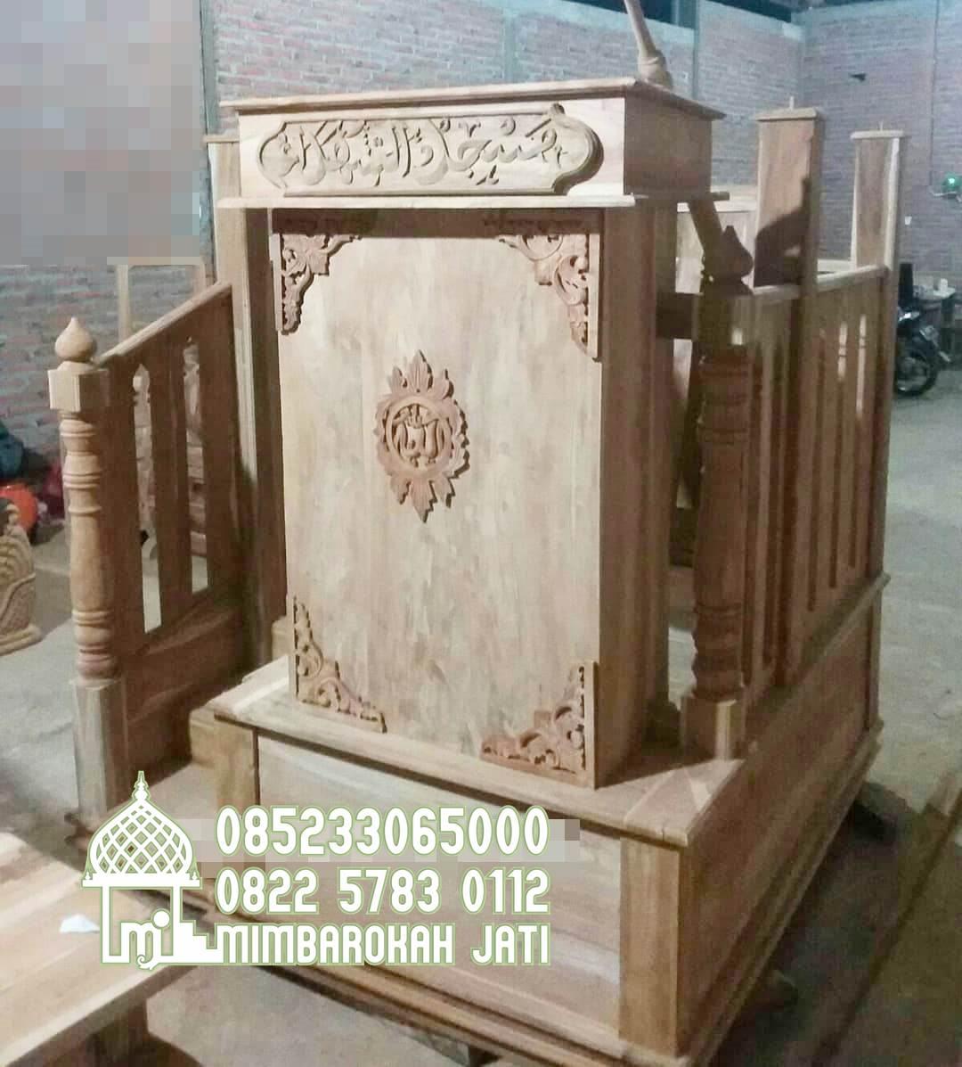 Mimbar Jati Minimalis Masjid Di Sukabumi
