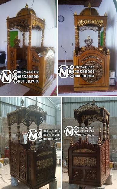 Mimbar Ukir-ukiran Masjid Di Semarang