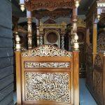 Mimbar Ukiran Masjid Di Banten
