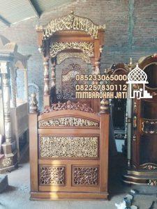 Mimbar Ukiran Masjid Di Jakarta