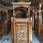 Mimbar Ukiran Masjid Sederhana