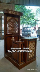 Mimbar Ukir-ukiran Masjid Di Depok