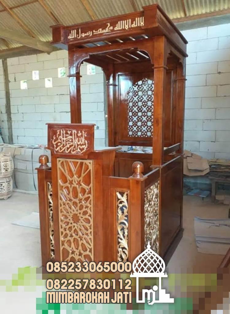 Ukuran Podium Mimbar Masjid Minimalis Klasikan