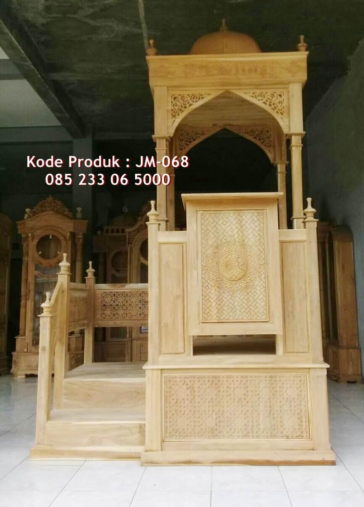 Model Mimbar Jati Minimalis Masjid Besar