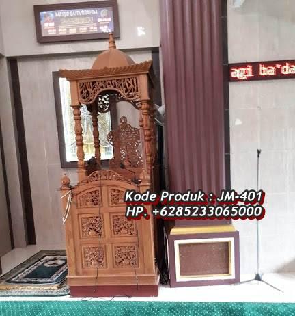 Desain Mimbar Ukir-ukiran Masjid Di Brebes Jawa Tengah
