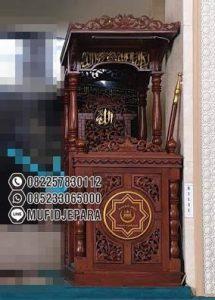 Mimbar Jati Jepara Masjid Sederhana