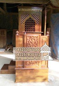 Mimbar Jati Minimalis Masjid Di Brebes