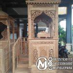 Mimbar Jati Minimalis Masjid Di Pekalongan