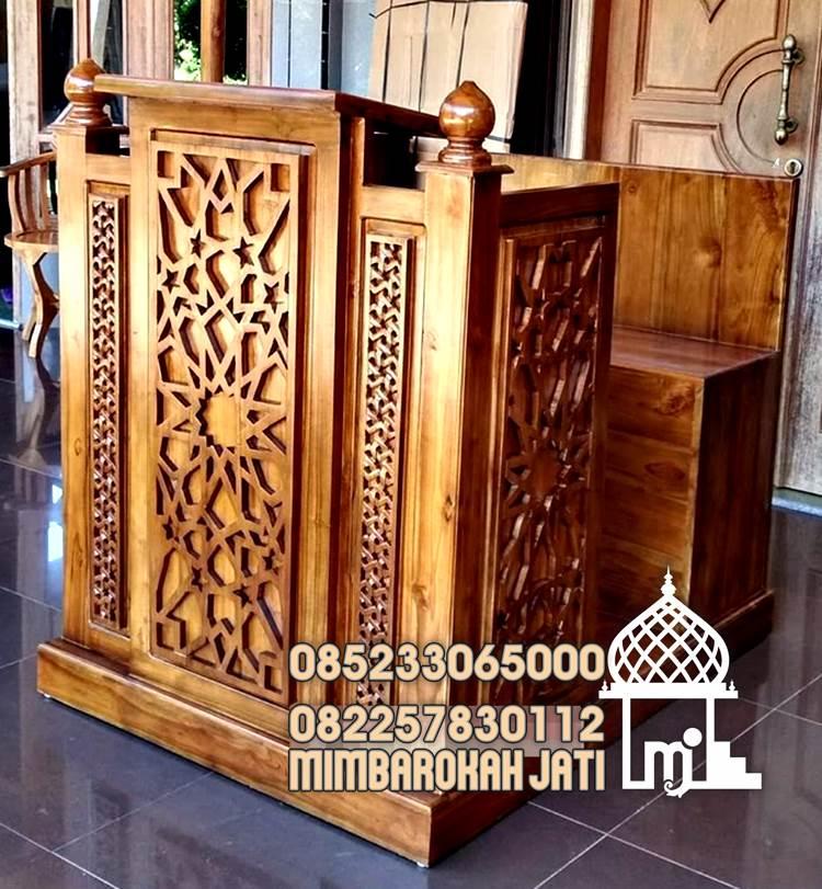 Mimbar Jati Minimalis Masjid Agung Di Bandung