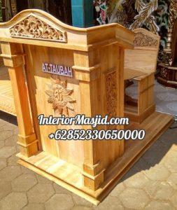 Mimbar Kayu Podium Minimalis Masjid Di Bogor