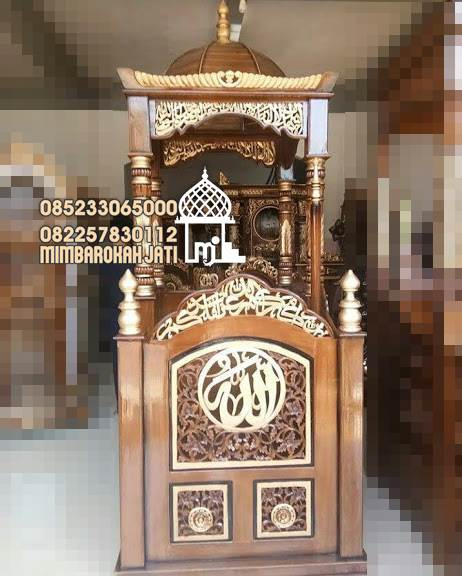 Mimbar Kayu Standar Masjid Di Bekasi