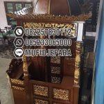Mimbar Kayu Standar Masjid Sederhana