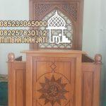 Mimbar Kayu Podium Minimalis Masjid Di Sukabumi