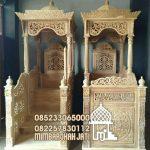 Mimbar Ukiran Masjid Di Depok