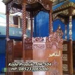 Mimbar Khutbah Masjid Ukuran Standar Atap Kubah Kayu Jati