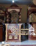 Mimbar Khutbah Masjid Ukuran Besar Classic Jati Jepara
