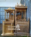 Mimbar Khutbah Masjid Ukuran Besar Klasik Kayu Jati