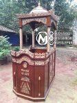 Mimbar Khutbah Masjid Ukuran Kecil Classic Jati Jepara