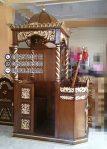 Mimbar Khutbah Masjid Ukuran Kecil Kuba Jati