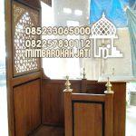 Mimbar Khutbah Masjid Ukuran Standar Classic Jati