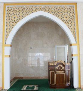 Mimbar Khutbah Masjid Ukuran Standar Klasik Kayu Jati