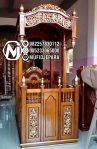 Mimbar Khutbah Masjid Ukuran Standar Kuba Jati