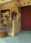 Mimbar Masjid Minimalis Ukuran Besar Klasik Jati
