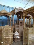 Mimbar Masjid Minimalis Ukuran Kecil Kuba Jati Jepara