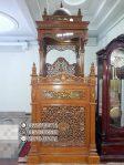 Mimbar Masjid Minimalis Ukuran Sederhan Classic Kayu Jati