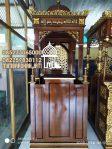 Mimbar Masjid Minimalis Ukuran Standar Kuba Jati