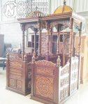 Mimbar Masjid Ukuran Besar Atap Kubah Jati Jepara