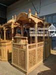 Mimbar Masjid Ukuran Besar Classic Jati Jepara