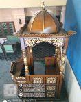 Mimbar Masjid Ukuran Sederhan Atap Kubah Kayu Jati