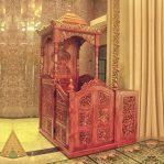 Mimbar Masjid Ukuran Standar Atap Kubah Jati Jepara