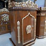 Mimbar Masjid Ukuran Standar Classic Jati