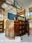 Mimbar Masjid Ukuran Standar Kuba Jati