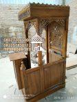 Mimbar Khutbah Masjid Ukuran Kecil Atap Kubah Jati Jepara