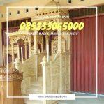 Mimbar Khutbah Masjid Ukuran Besar Atap Kubah Jati Jepara