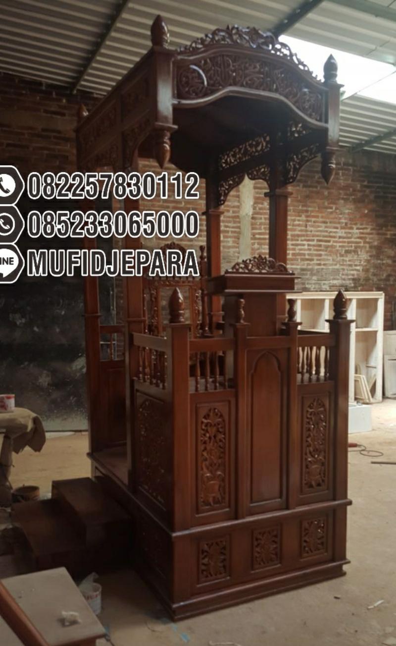 Podium Mimbar Khutbah Masjid Ukuran Besar Kuba Jati Jepara