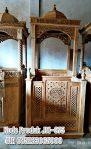 Mimbar Khutbah Masjid Ukuran Besar Kuba Kayu Jati