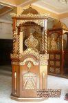 Mimbar Khutbah Masjid Ukuran Kecil Klasik Jati Jepara