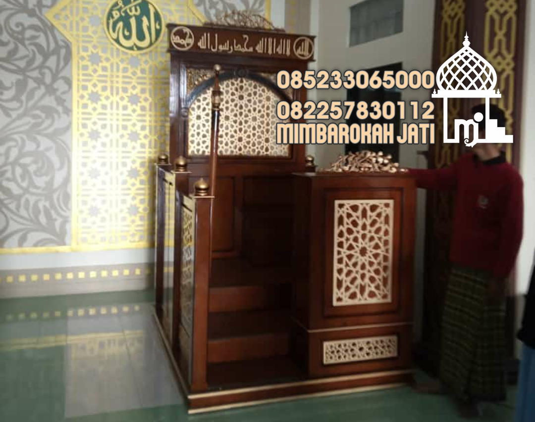 Harga Mimbar Masjid Minimalis Ukuran Besar Classic Jati Jepara