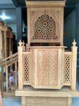Mimbar Masjid Minimalis Ukuran Kecil Classic Jati Jepara