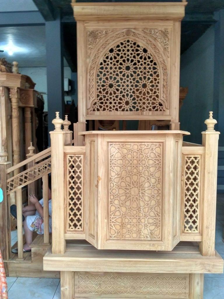 Podium Mimbar Masjid Minimalis Ukuran Kecil Classic Jati Jepara