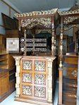 Mimbar Masjid Minimalis Ukuran Standar Classic Kayu Jati