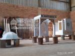 Mimbar Masjid Minimalis Ukuran Standar Kuba Kayu Jati