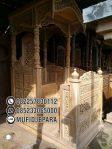 Mimbar Masjid Ukuran Besar Atap Kubah Kayu Jati