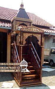 Mimbar Masjid Ukuran Kecil Atap Kubah Jati