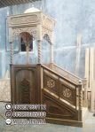Mimbar Masjid Ukuran Kecil Atap Kubah Jati Jepara