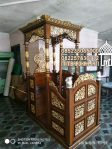 Mimbar Masjid Ukuran Kecil Klasik Jati Jepara